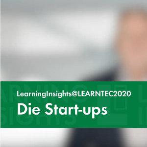 """Die Start-ups: Teil zwei von """"LearningInsights@LEARNTEC2020"""" jetzt online"""