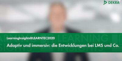 """LMS & Co.: Teil vier von """"LearningInsights@LEARNTEC2020"""" jetzt online"""